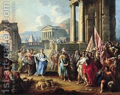 The Meeting Of Jephthah And His Daughter by Giuseppe Zocchi - Reproduction Oil Painting