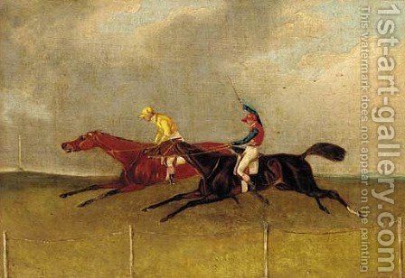 The final furlong by Henry Thomas Alken - Reproduction Oil Painting