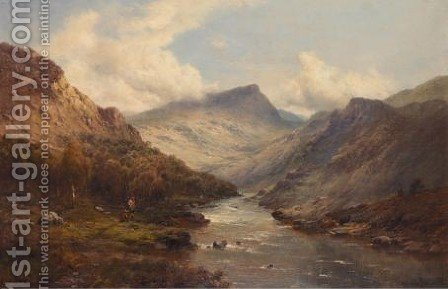 The Valley Of The Dee 3 by Alfred de Breanski - Reproduction Oil Painting