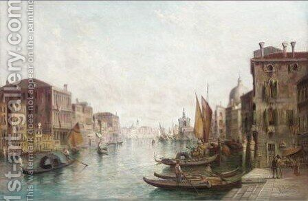 A View Of The Grand Canal by Alfred Pollentine - Reproduction Oil Painting