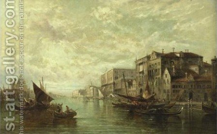 View Of Venice by Alfred Pollentine - Reproduction Oil Painting