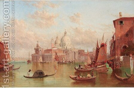 Santa Maria della Salute by Alfred Pollentine - Reproduction Oil Painting