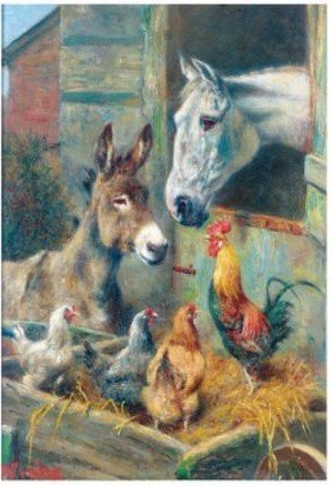 Reproduction oil paintings - Herbert William Weekes - Stable Friends