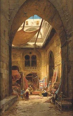 Reproduction oil paintings - Hermann David Solomon Corrodi - The carpet merchants