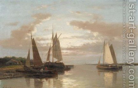 Shipping In Calm Water 2 by Abraham Hulk Snr - Reproduction Oil Painting