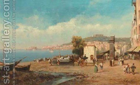 The Bay of Naples 2 by Giuseppe Carelli - Reproduction Oil Painting
