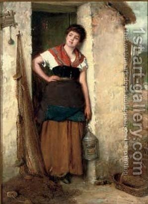 The fisherman's wife by Haynes King - Reproduction Oil Painting