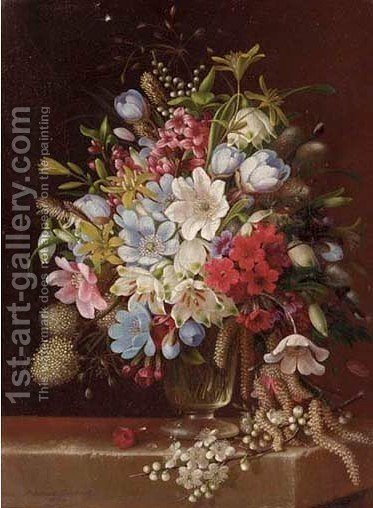 Floral Still Life 2 by Adelheid Dietrich - Reproduction Oil Painting