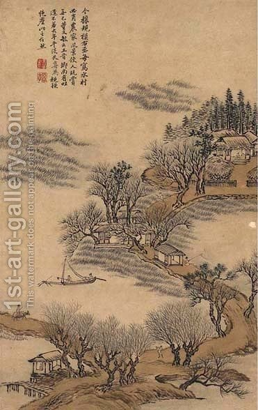 Landscape in a Classical Style by Hui Wang - Reproduction Oil Painting