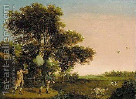Two gentlemen shooting by (after) Stubbs, George - Reproduction Oil Painting