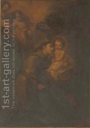 Saint Anthony of Padua by (after) Murillo, Bartolome Esteban - Reproduction Oil Painting