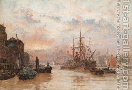 Sunset, St. Pauls by Herbert Menzies Marshall - Reproduction Oil Painting