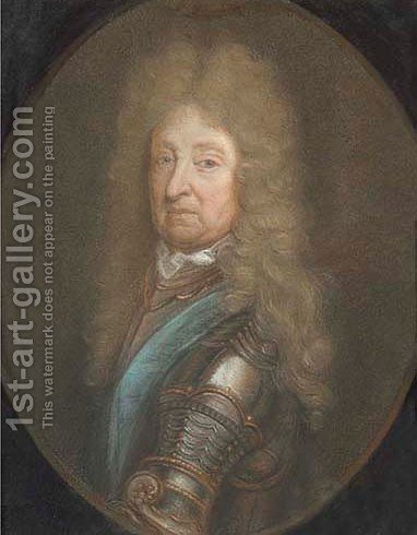 Portrait of the third Duke of Schemburg by (after) Kneller, Sir Godfrey - Reproduction Oil Painting