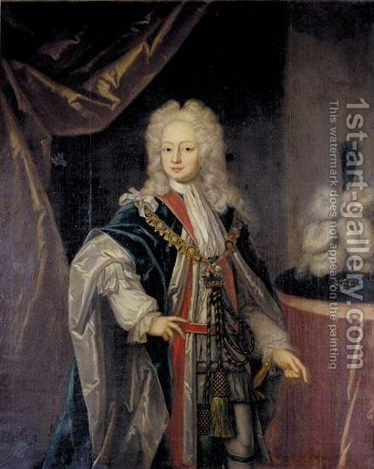 Portrait Of King George II When A Young Boy (1683- 1760) by (after) Kneller, Sir Godfrey - Reproduction Oil Painting