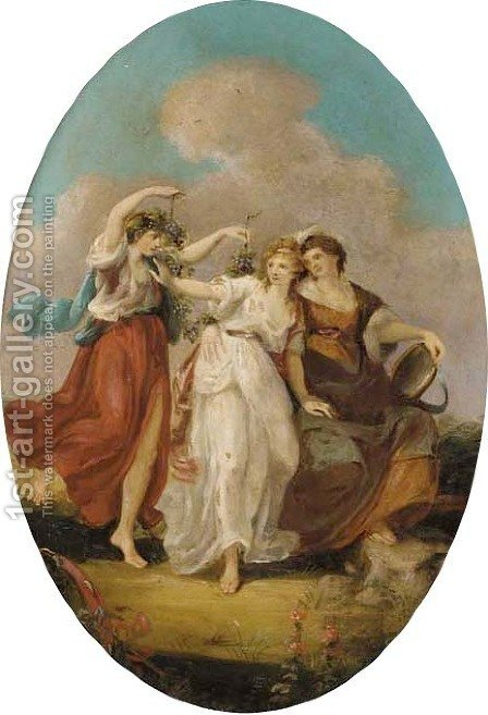 Three Bacchantes by (after) Kauffmann, Angelica - Reproduction Oil Painting