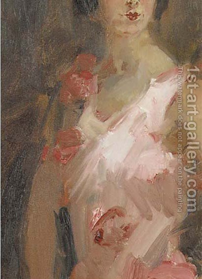 Dancing girl (detail) by Isaac Israels - Reproduction Oil Painting