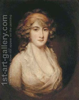 Portrait of Charlotte Augusta Papendiek (d.1846) by (after) Hoppner, John - Reproduction Oil Painting