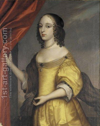 Portrait Of Mademoiselle De Tremouille by (after) Honthorst, Gerrit van - Reproduction Oil Painting