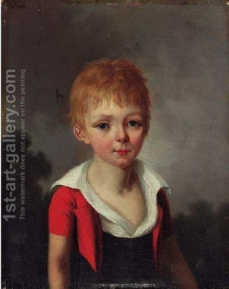 Portrait of Amity Thayer, age 12 by Henri Nicolas van Gorp - Reproduction Oil Painting