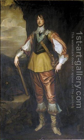 Portrait Herzog Charles Louis Von Der Pfalz (1617-1680) by (after) Dyck, Sir Anthony van - Reproduction Oil Painting