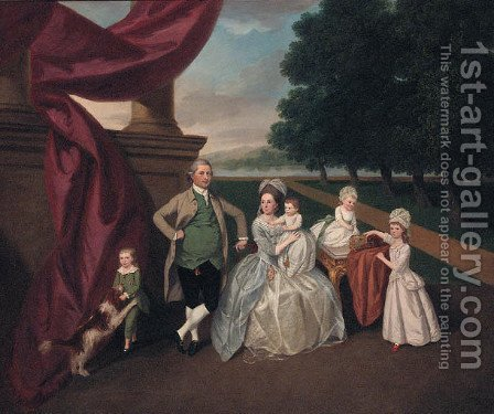 Portrait of the Ashby Family of Isleworth and Bromley by (after) Dodd, Daniel - Reproduction Oil Painting