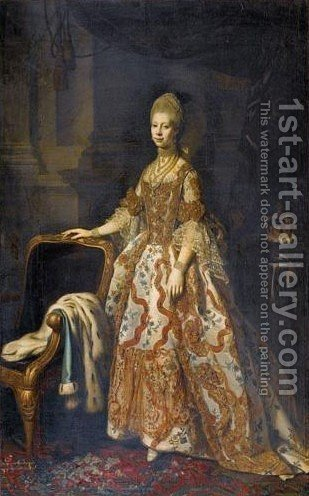 Portrait Of Queen Charlotte, Wife Of King George III by (after) Dance Holland, Nathaniel - Reproduction Oil Painting