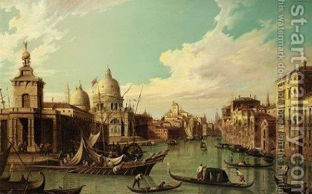 Venice, The Entrance To The Grand Canal Looking West by (after) (Giovanni Antonio Canal) Canaletto - Reproduction Oil Painting