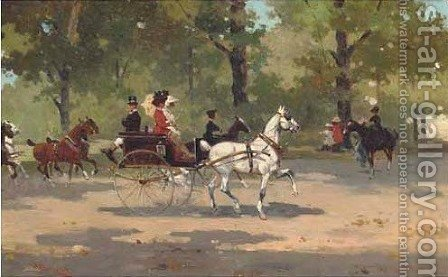 A ride through the park by (after) Alfredo Tominz - Reproduction Oil Painting