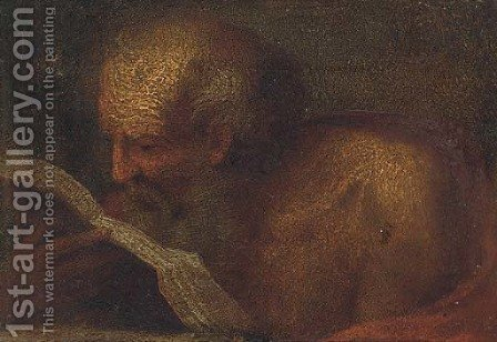 Saint Jerome by (after) Annibale Carracci - Reproduction Oil Painting
