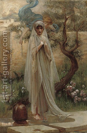 The Annunciation by (after) Arthur Hacker - Reproduction Oil Painting