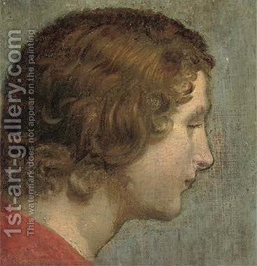 Head of a male Saint by (after) Carlo Cignani - Reproduction Oil Painting