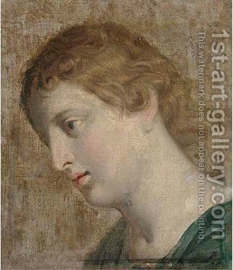 Head of a female Saint by (after) Carlo Cignani - Reproduction Oil Painting
