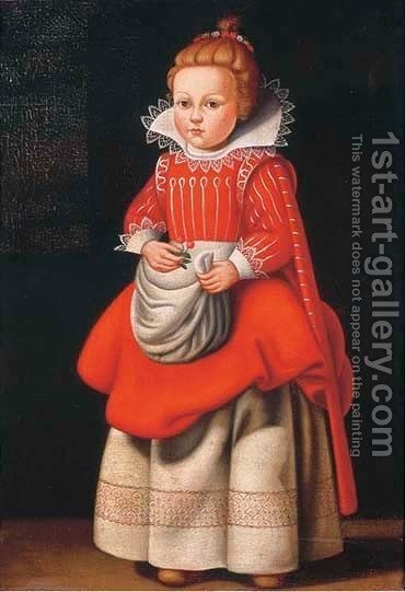 Portrait of Magdalena de Vos (1618-after 1680) by (after) Cornelis De Vos - Reproduction Oil Painting