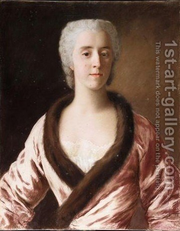 Portrait Of A Lady by (after) Etienne Liotard - Reproduction Oil Painting