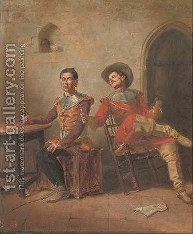 A Distraction From Duty by (after) Francesco Coleman - Reproduction Oil Painting