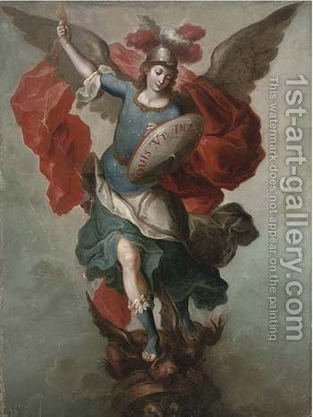The Archangel Gabriel by (after) Francisco Menseses Osorio - Reproduction Oil Painting