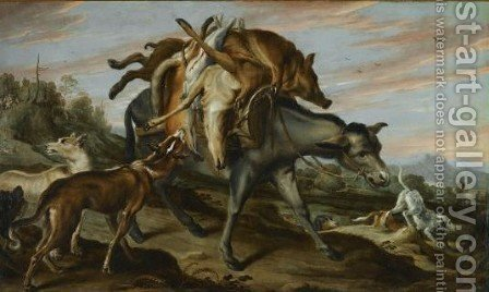 A Mule Carrying The Spoils Of A Hunt by (after) Frans Snyders - Reproduction Oil Painting