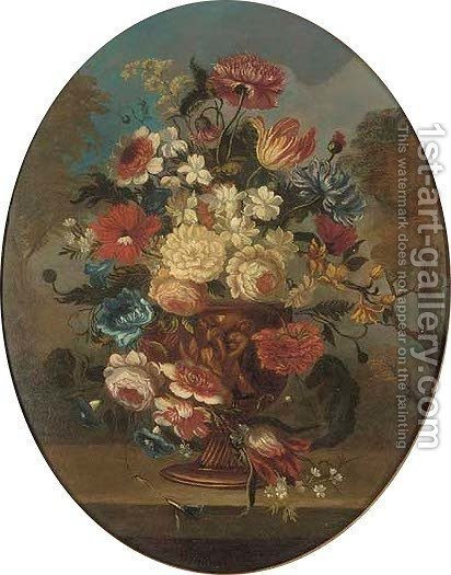 Flowers by (after) Gaspar-Pieter The Younger Verbruggen - Reproduction Oil Painting