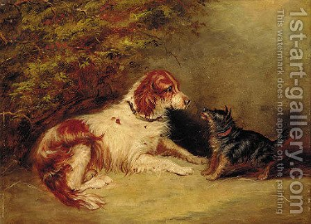 A spaniel by (after) George Armfield - Reproduction Oil Painting