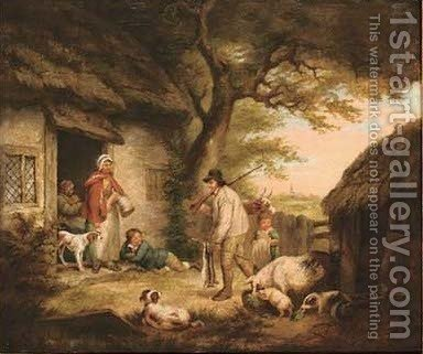 The gamekeeper's return by (after) George Morland - Reproduction Oil Painting