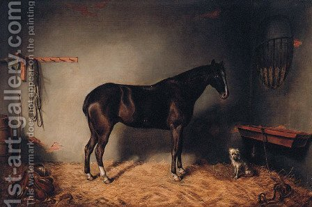 Stable Companions by (after) George Morley - Reproduction Oil Painting