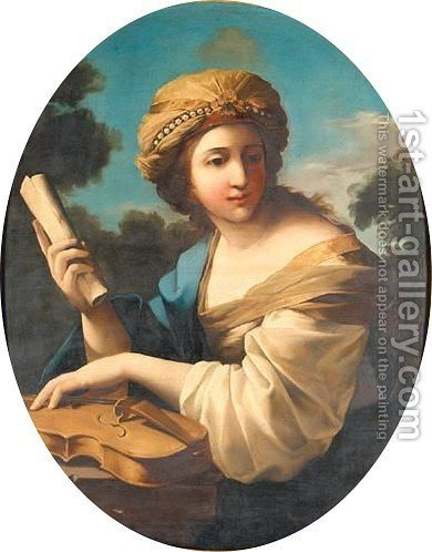 Saint Cecilia by (after) Giovanni Francesco Romanelli - Reproduction Oil Painting
