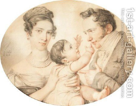 A Family Portrait by (after) Giuseppe Bossi - Reproduction Oil Painting