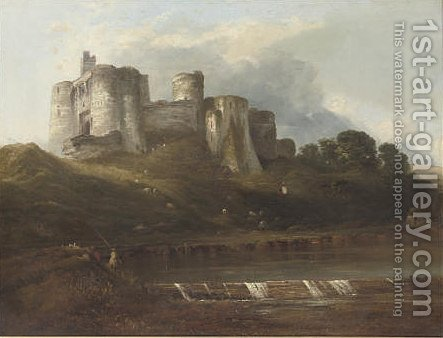 Kidwelly Castle, Wales by (after) Horatio McCulloch - Reproduction Oil Painting