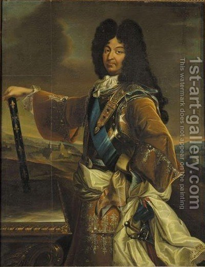 Portrait Von Konig Ludwig XIV Von Frankreich (1638-1715) by (after) Hyacinthe Rigaud - Reproduction Oil Painting