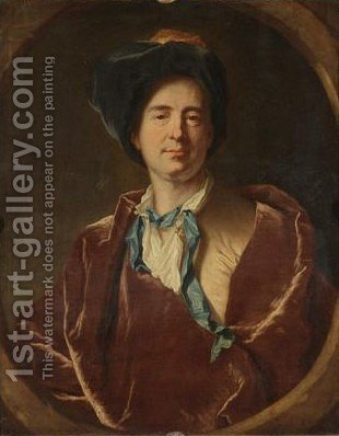 A Self-Portrait by (after) Hyacinthe Rigaud - Reproduction Oil Painting