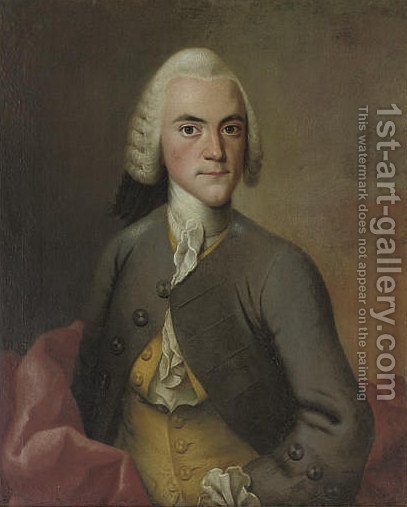 Portrait of J. Wichfeld (1729-1796) by (after) Isak Wacklin - Reproduction Oil Painting