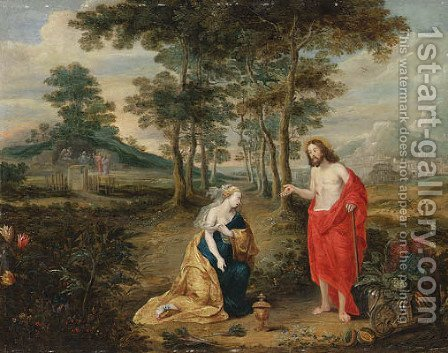 Noli Me Tangere by (after) Jan, The Younger Brueghel - Reproduction Oil Painting
