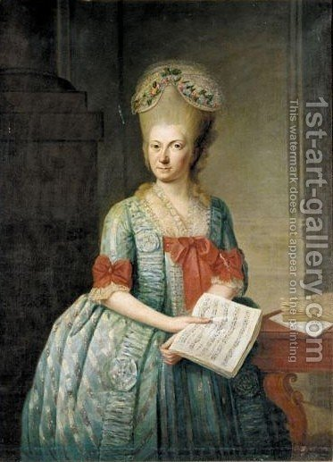 Portrait Of A Lady 2 by (after) Jens Juel - Reproduction Oil Painting
