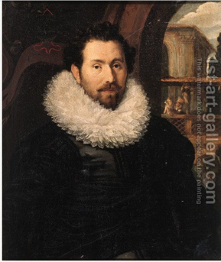Portrait of Pieter Care by (after) Joachim Wtewael - Reproduction Oil Painting